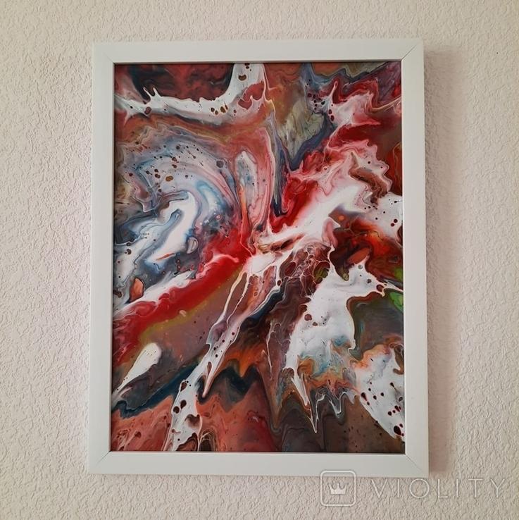 Картина/ живопис/ абстракція Fluid Art #17 acrylic, фото №12
