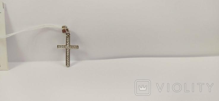 Крестик с бриллиантами, фото №7