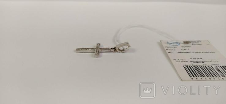 Крестик с бриллиантами, фото №8