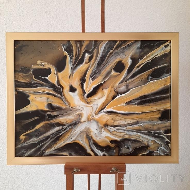 Картина/ живопис/ абстракція Fluid Art #19 acrylic, фото №4