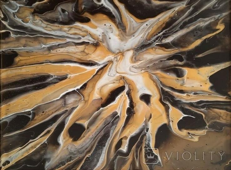 Картина/ живопис/ абстракція Fluid Art #19 acrylic, фото №9