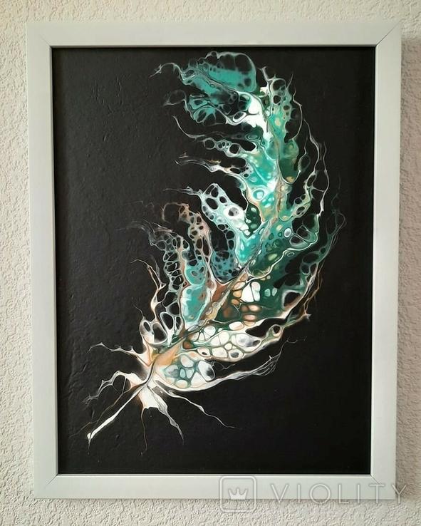 Картина/ живопис/ абстракція Fluid Art #20 acrylic, фото №2