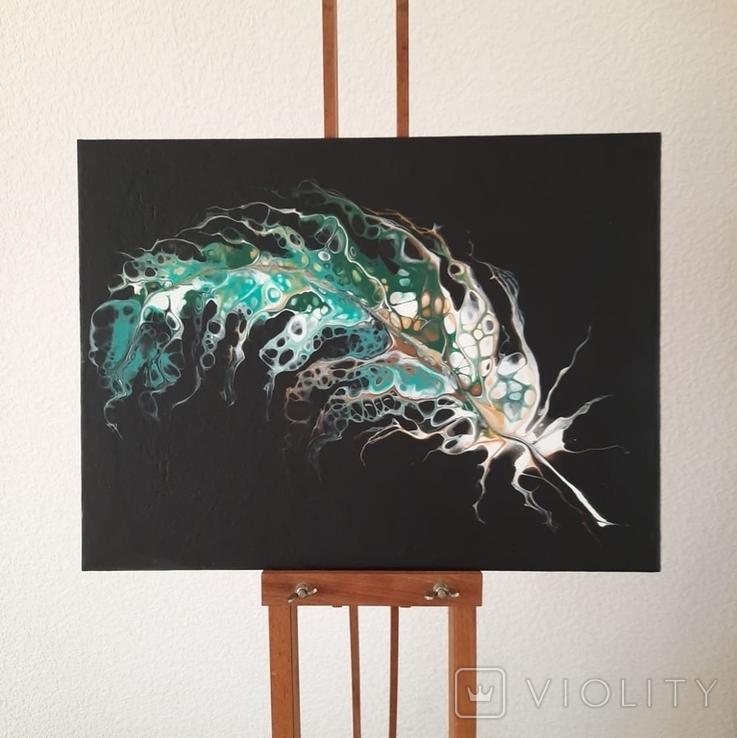 Картина/ живопис/ абстракція Fluid Art #20 acrylic, фото №3