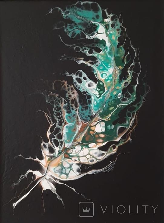 Картина/ живопис/ абстракція Fluid Art #20 acrylic, фото №7
