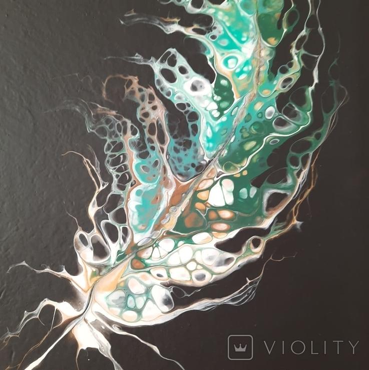 Картина/ живопис/ абстракція Fluid Art #20 acrylic, фото №11