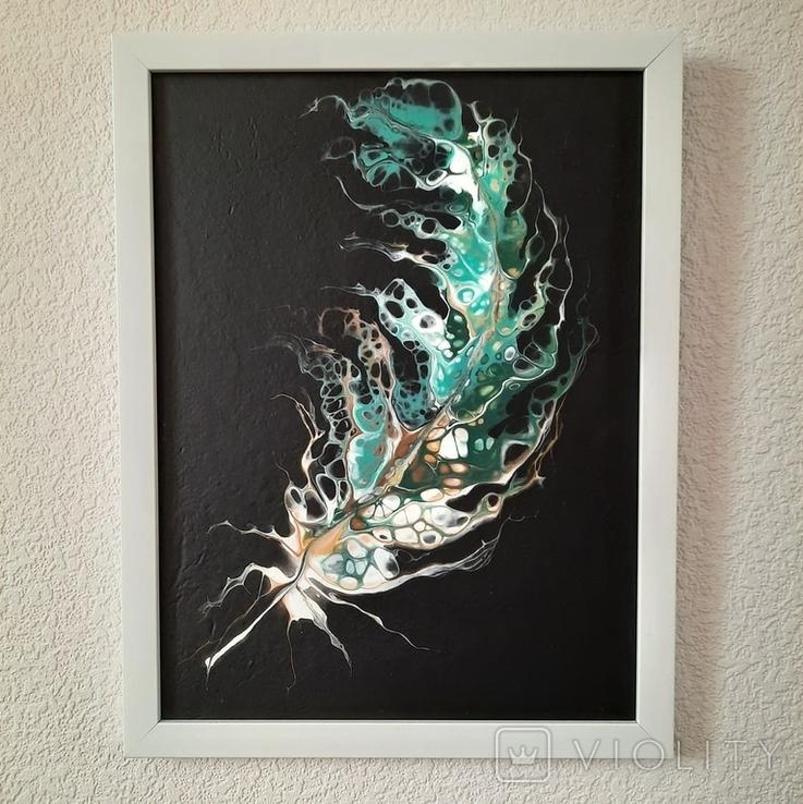 Картина/ живопис/ абстракція Fluid Art #20 acrylic, фото №12