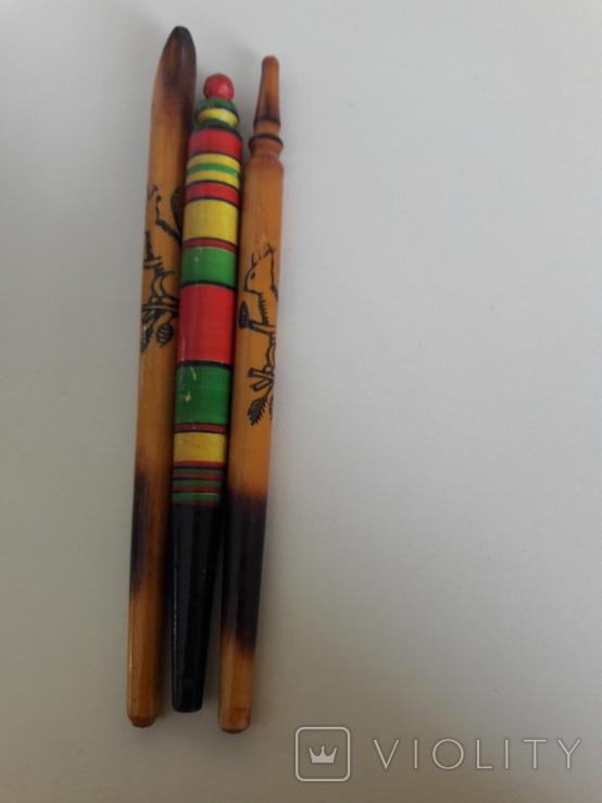 Ручки шариковые гуцульские времен ссср 3 шт, фото №4
