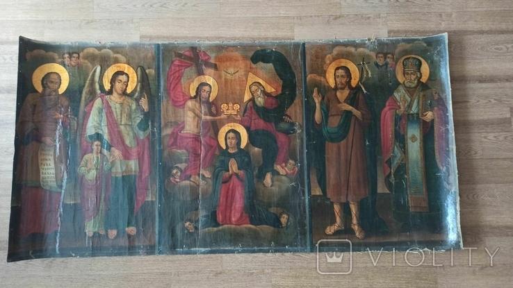 Коронование Пресвятой Богородицы с избранными святыми 169*84 ., фото №2
