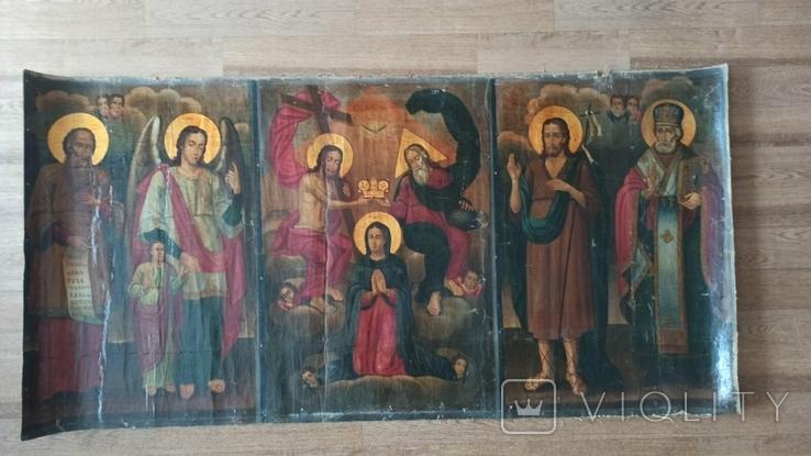 Коронование Пресвятой Богородицы с избранными святыми 169*84 ., фото №4