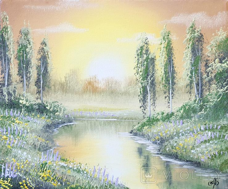 Картина, Фантазии на тему лета, 25х30 см. Живопись на холсте, фото №2