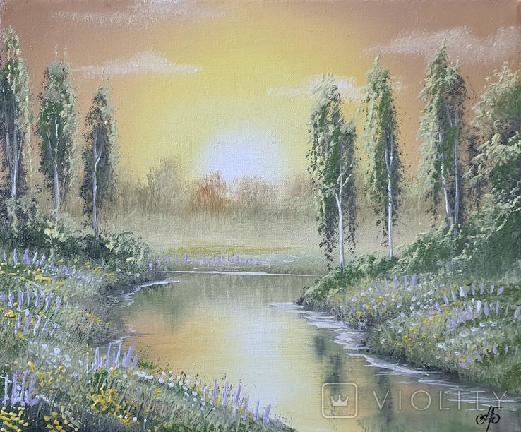 Картина, Фантазии на тему лета, 25х30 см. Живопись на холсте, фото №3