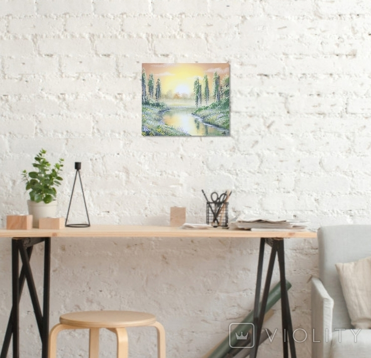 Картина, Фантазии на тему лета, 25х30 см. Живопись на холсте, фото №5