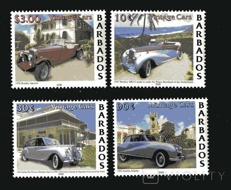Барбадос 2000 - Ретро автомобили. Транспорт. Серия