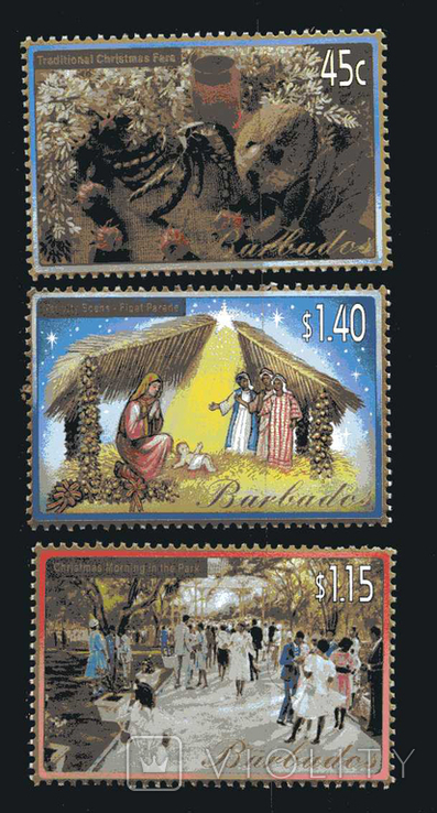 Барбадос 2002 - Рождество. Новый год. серия