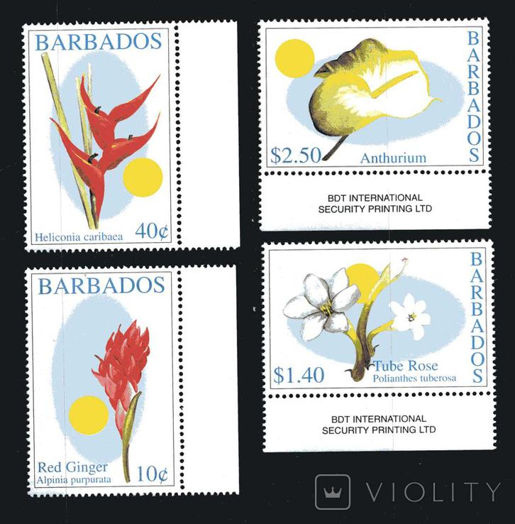 Барбадос 2002 - Флора. Цветы. Природа серия