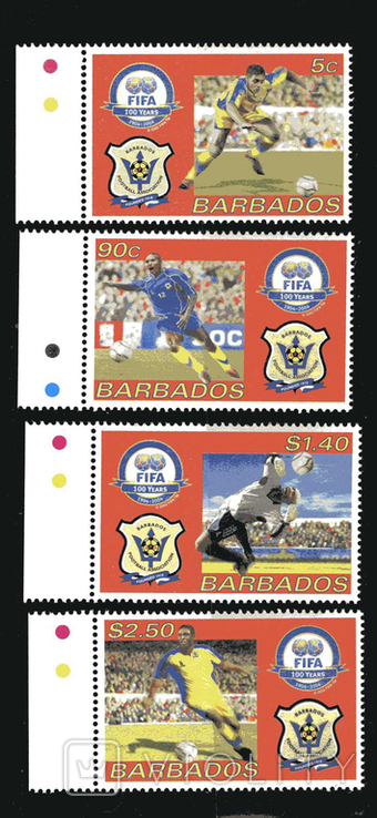Барбадос 2004 - Спорт. 100 лет ФИФА. Футбол. серия