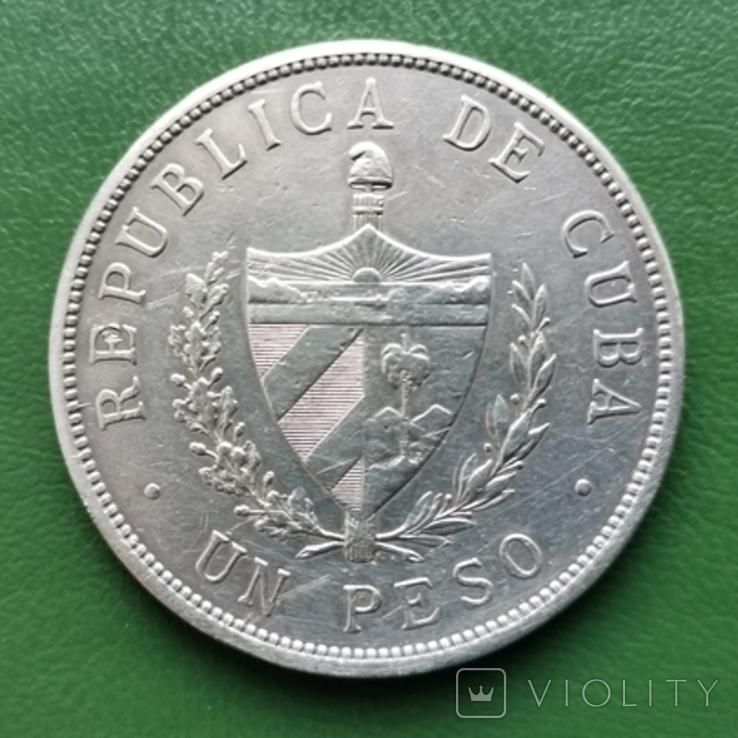 1 песо Куба 1934 г.серебро, фото №3