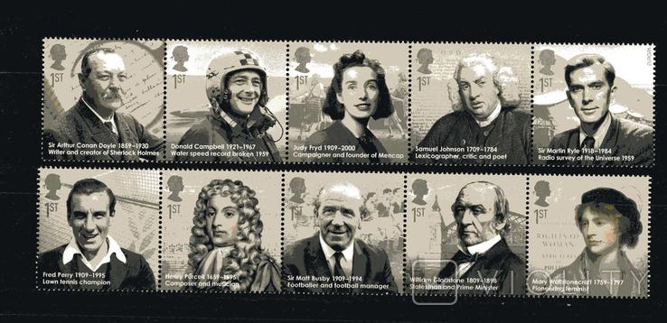 Великобритания 2009 - Знаменитые личности. История