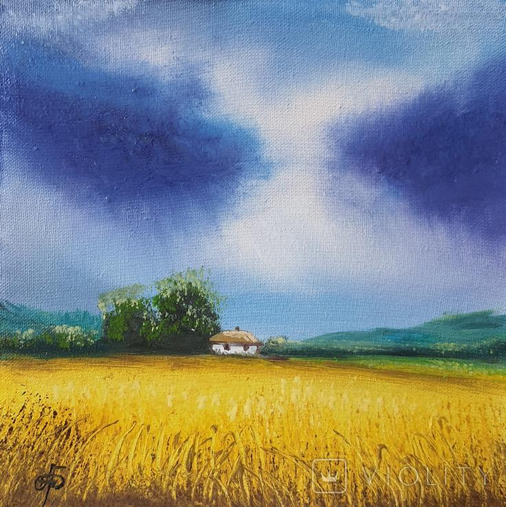 Картина, Знаки неба, 15х15 см. Живопис на полотні, фото №3