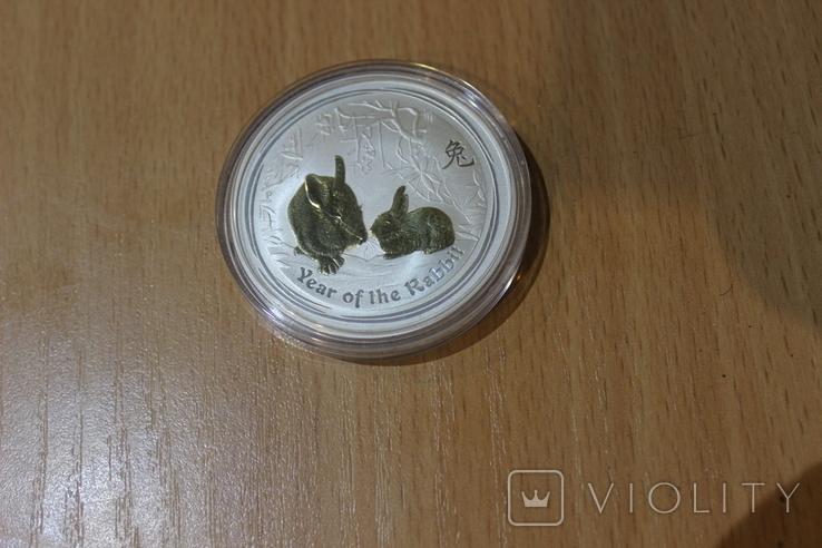Год кролика 2011 Серебро Австралия, фото №5