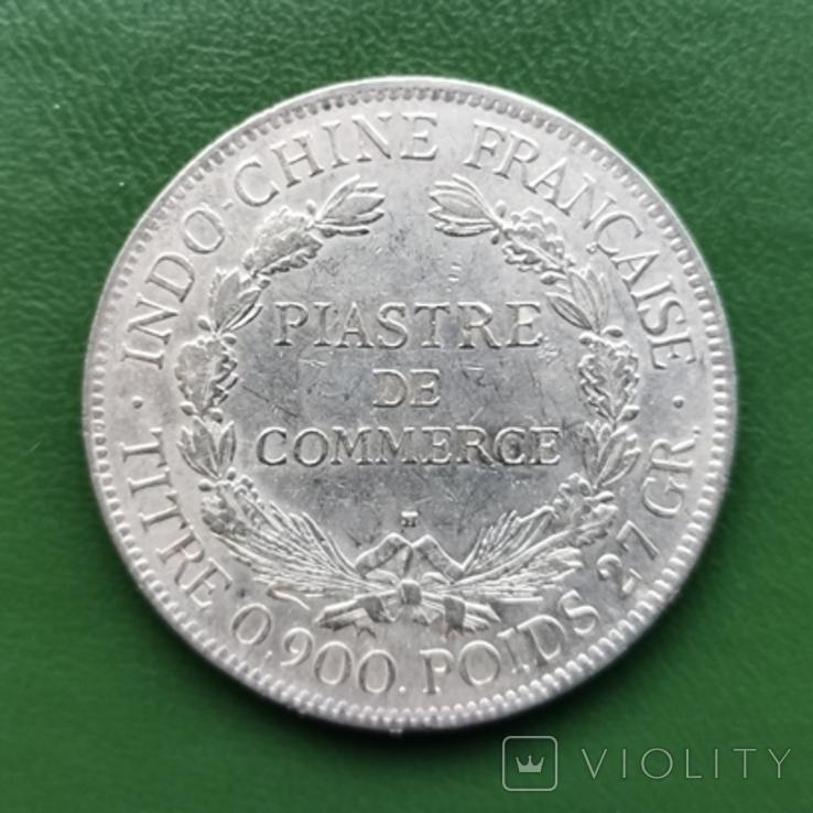 1 пиастр Индокитай 1922 г. Серебро, фото №2