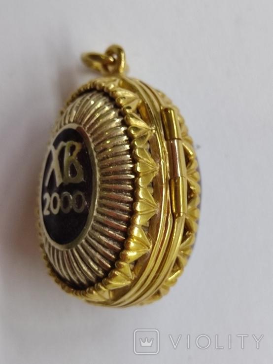 Кулон мощевик золото 925 камень серебро, фото №5