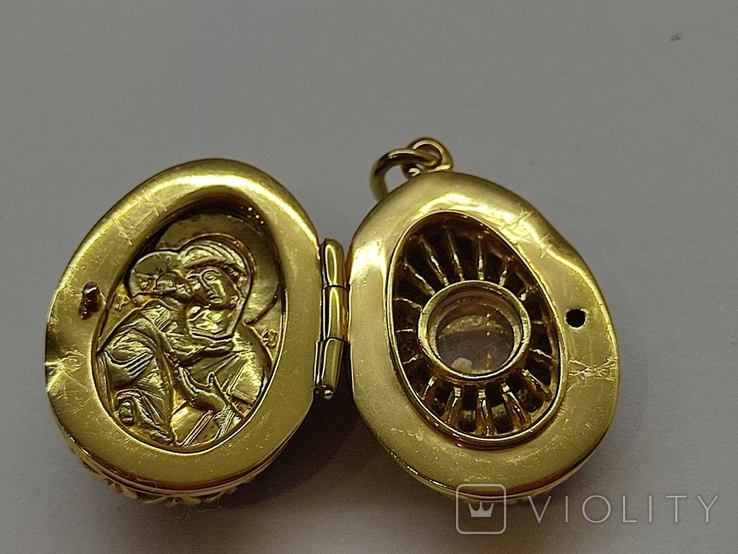 Кулон мощевик золото 925 камень серебро, фото №10