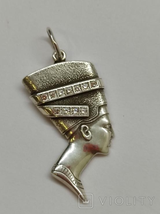 Кулон Нефертити серебро, фото №3
