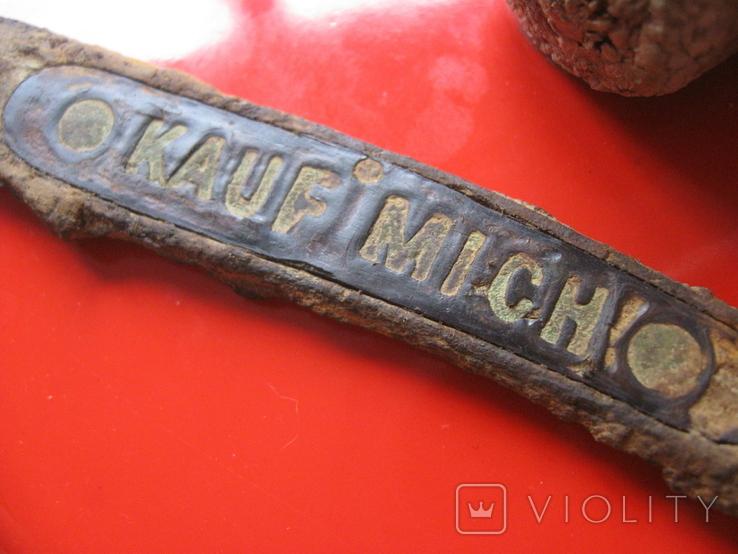 """Накладка ножа """"Купи меня!"""" (из траншеи..),Германия., фото №3"""