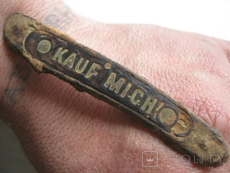 """Накладка ножа """"Купи меня!"""" (из траншеи..),Германия., фото №8"""
