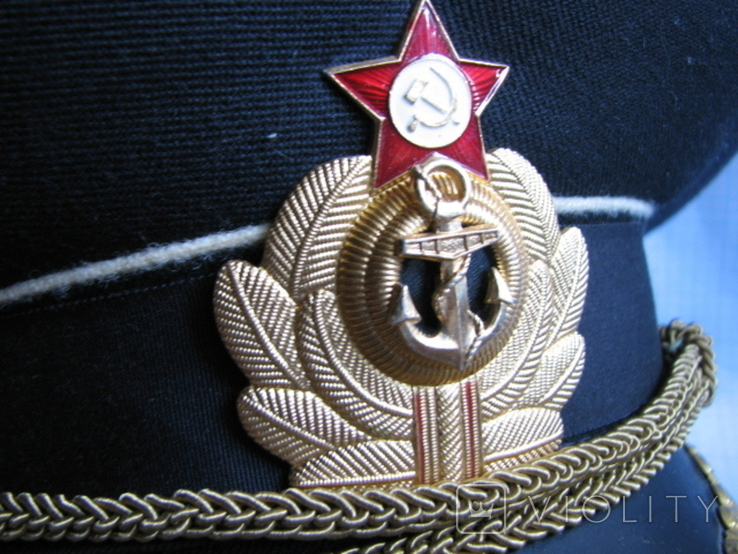 Фуражка офицера ВМФ СССР размер- 58, фото №7