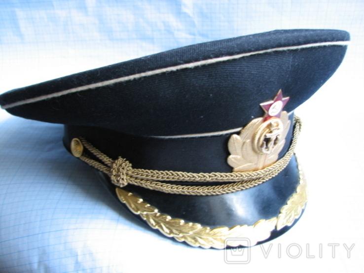 Фуражка офицера ВМФ СССР размер- 58, фото №12