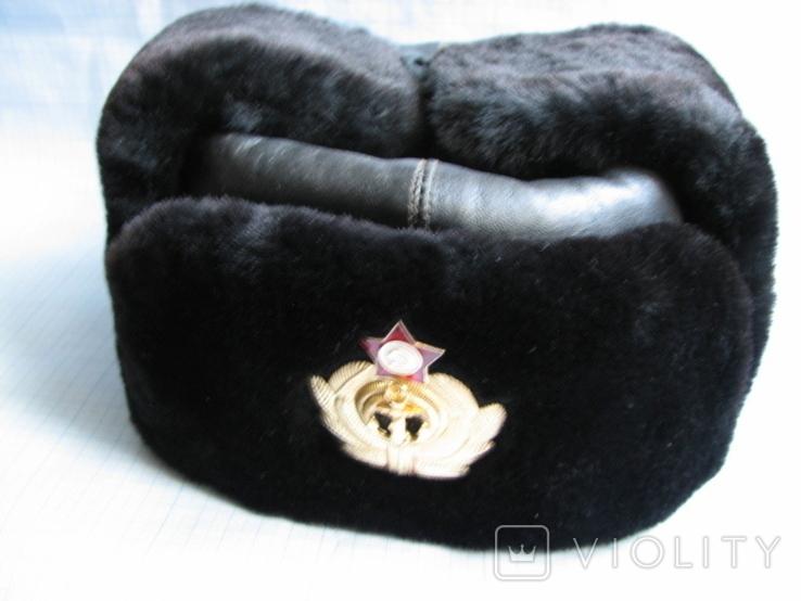 Шапка зимняя офицера ВМФ СССР размер - 60, фото №2