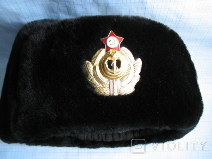Шапка зимняя офицера ВМФ СССР размер - 60, фото №5