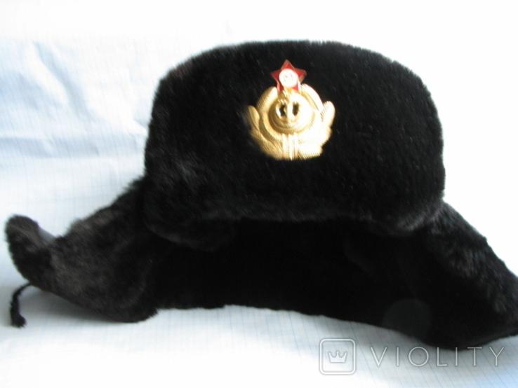 Шапка зимняя офицера ВМФ СССР размер - 60, фото №9