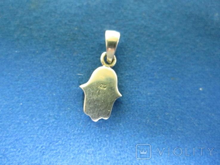 Кулончик рука серебро(Израиль)., фото №5