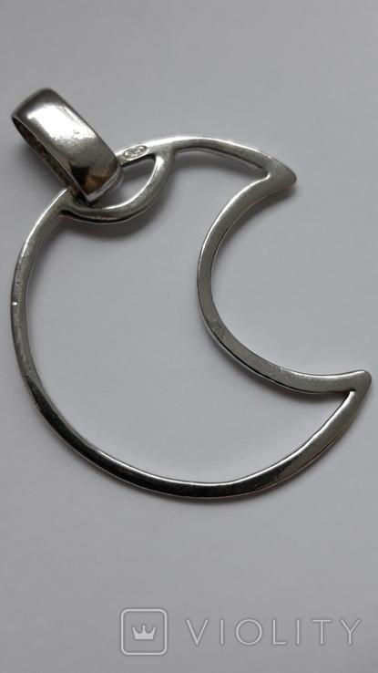 Кулон півмісяць,Італія срібло925, фото №2