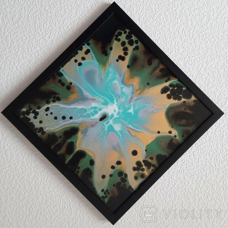Картина живопис абстракція Fluid Art #36 acrylic, фото №9