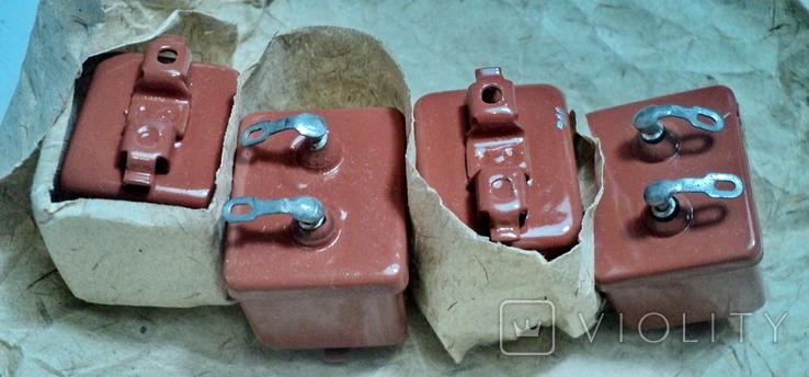 Конденсаторы мбгп-3 200в, 4 шт,новые, фото №3