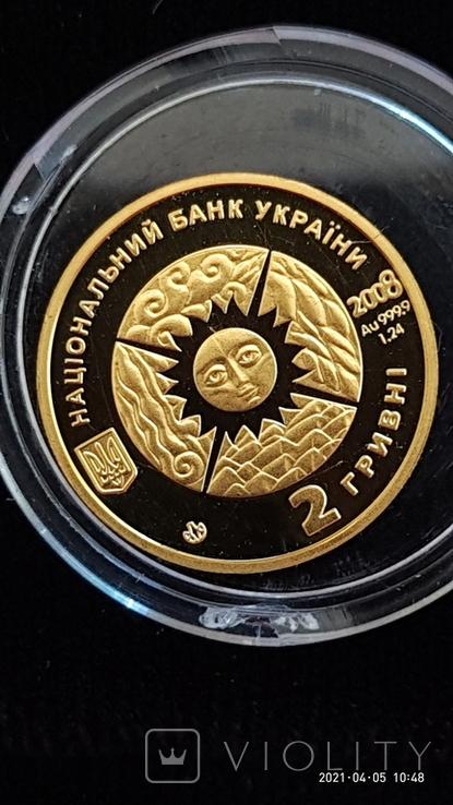 """2 гривны Золото 999* """"Весы"""", фото №4"""