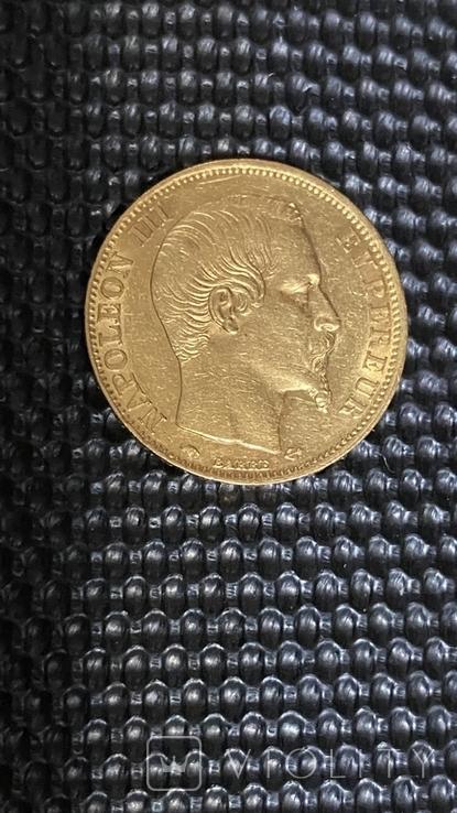 Золото 20Франков.1858г., фото №2