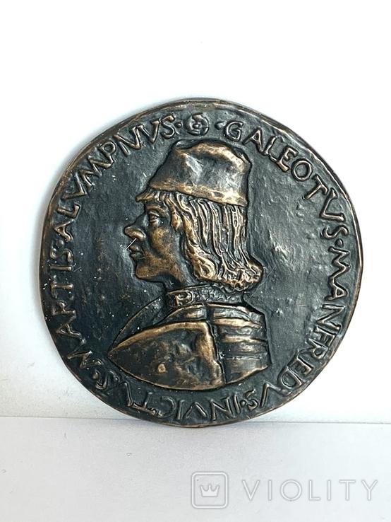 Современная медаль по типу Сперандио копия монеты, фото №3