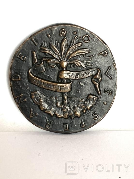 Современная медаль по типу Сперандио копия монеты, фото №4