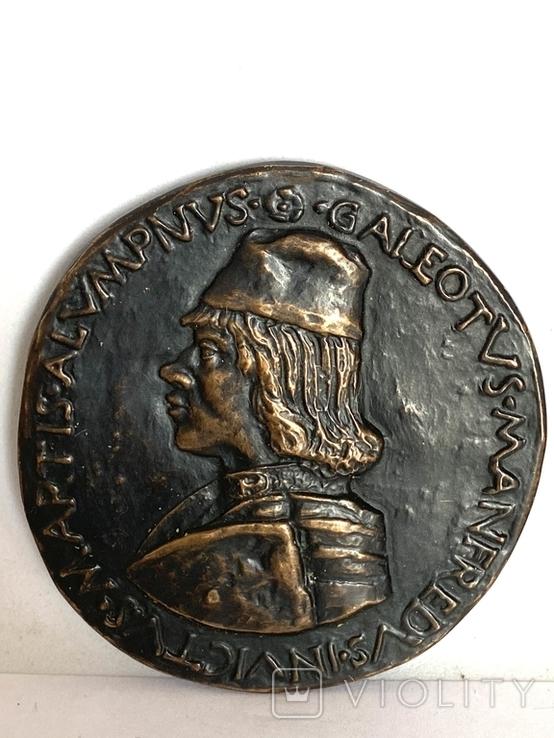 Современная медаль по типу Сперандио копия монеты, фото №6