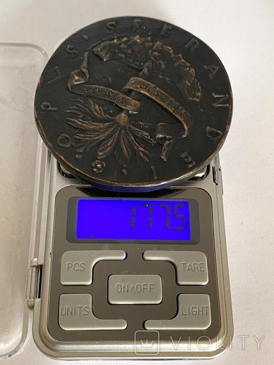 Современная медаль по типу Сперандио копия монеты, фото №9