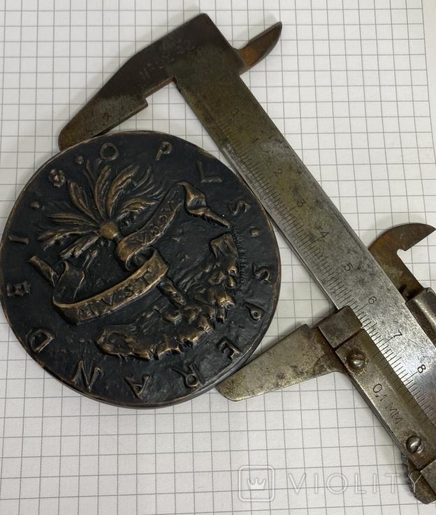 Современная медаль по типу Сперандио копия монеты, фото №11