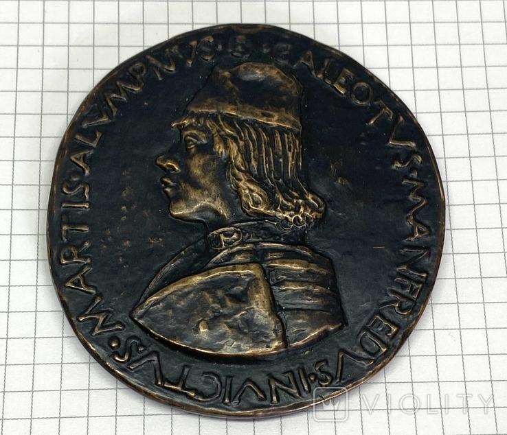 Современная медаль по типу Сперандио копия монеты, фото №12