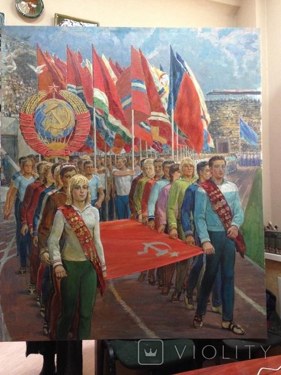 Спортивный Марш 1980 е Заслуженный художник Украины Магмедов Георгий Иванович, фото №2