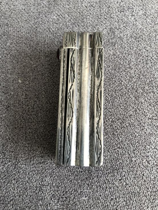 Серебряная винтажная помадница, штихель (серебро 925 пр, вес 27 гр) Италия, фото №3