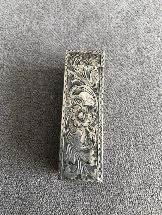 Серебряная винтажная помадница, штихель (серебро 925 пр, вес 27 гр) Италия, фото №4